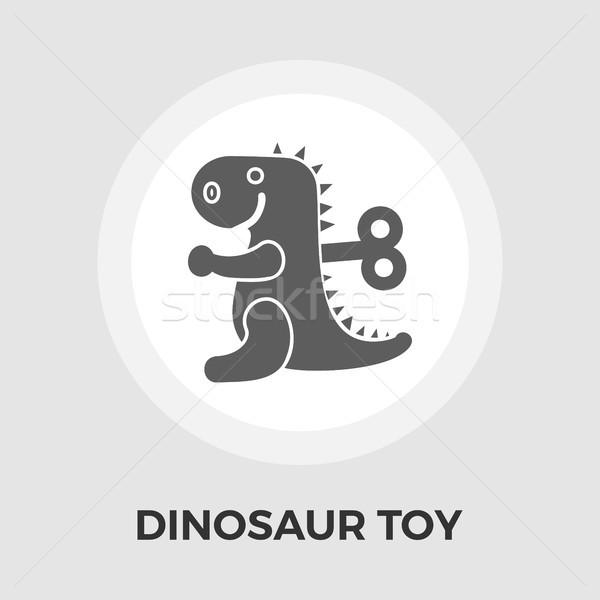 динозавр игрушку икона вектора изолированный белый Сток-фото © smoki