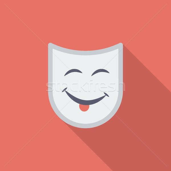 Masker icon vector lang schaduw Stockfoto © smoki