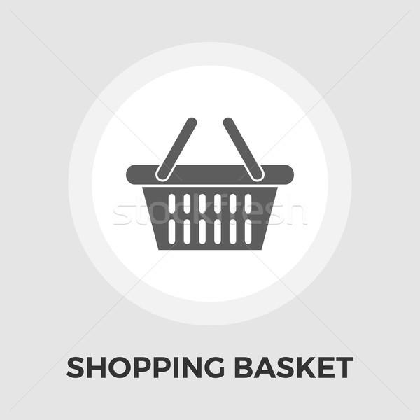 Shopping basket flat icon Stock photo © smoki