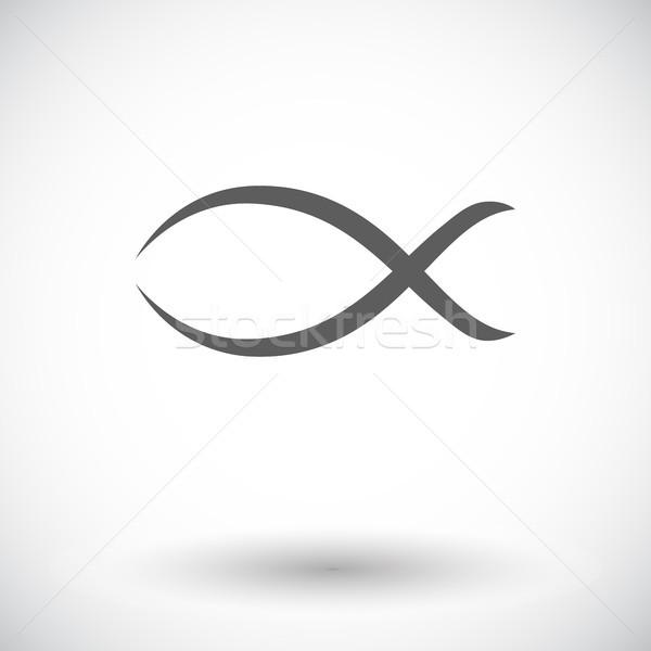 Сток-фото: рыбы · икона · белый · Бога · Христа · празднования