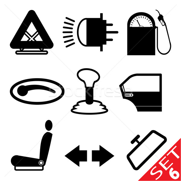 Car part icon set 6 Stock photo © smoki