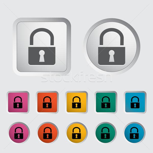 Сток-фото: блокировка · икона · компьютер · безопасности · веб · цвета