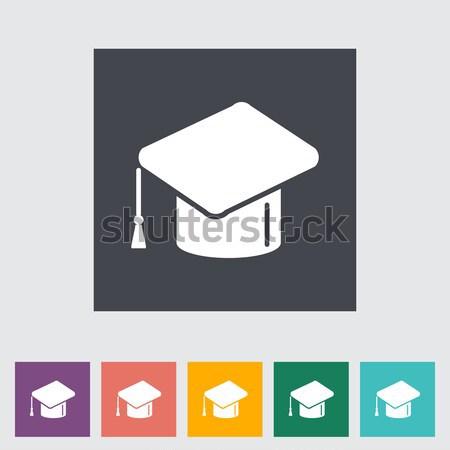 Oktatás ikon eps papír iskola festmény Stock fotó © smoki
