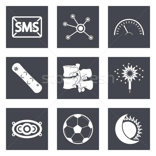 Stockfoto: Iconen · web · design · ingesteld · 40 · mobiele · toepassingen