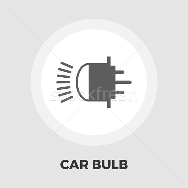 Ksenon araba lamba ikon vektör yalıtılmış Stok fotoğraf © smoki