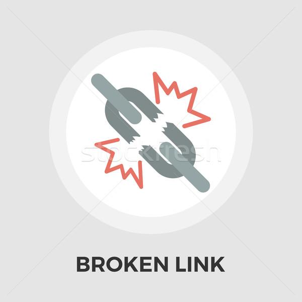 Broken connection flat single icon Stock photo © smoki