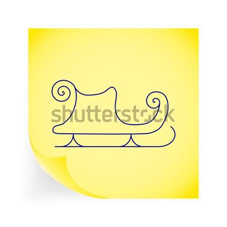 Santa's sleigh flat icon Stock photo © smoki