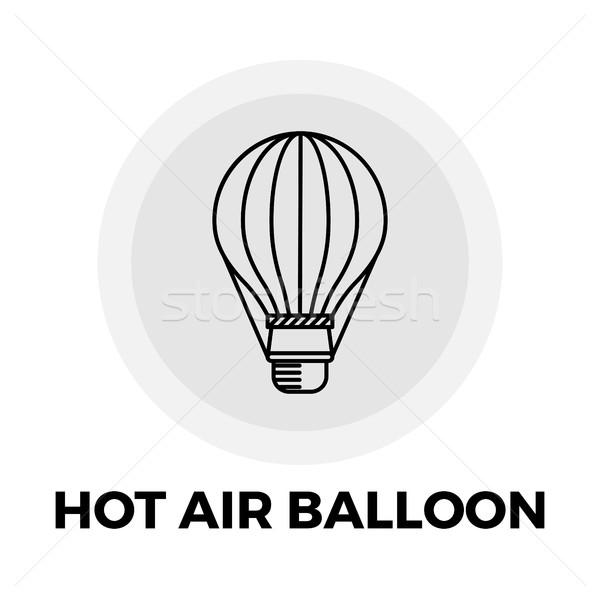 Balonem ikona wektora jpg obiektu line Zdjęcia stock © smoki