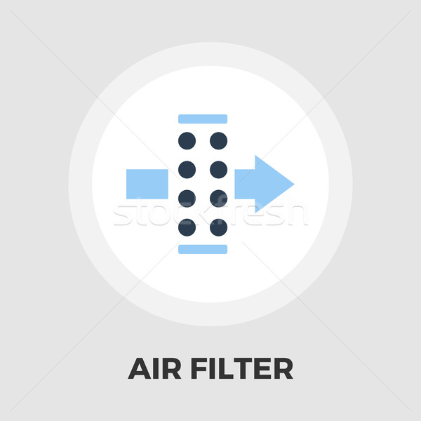 Air filtrer icône vecteur isolé blanche Photo stock © smoki