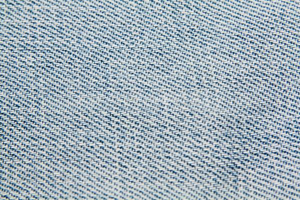 Denim blu materiale primo piano moda design Foto d'archivio © smoki