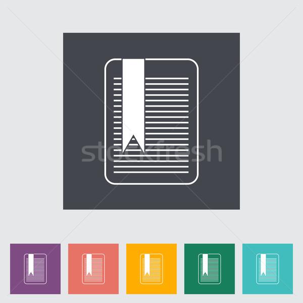 ブックマーク 紙 芸術 にログイン 赤 シルエット ストックフォト © smoki