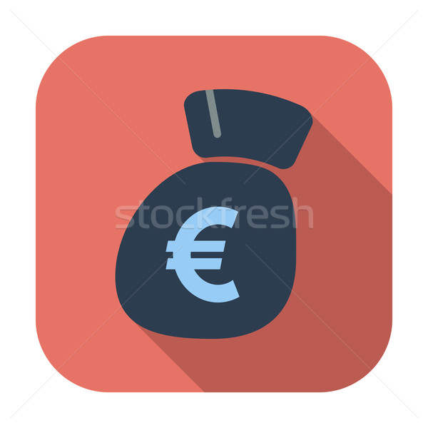 Euro flat icon. Stock photo © smoki