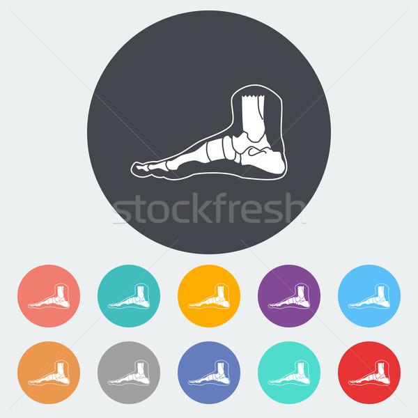 Voet anatomie icon cirkel medische lichaam Stockfoto © smoki