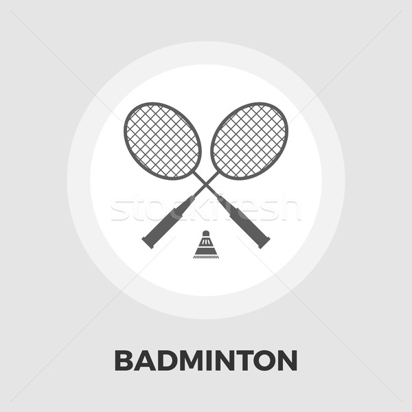 Badminton flat icon Stock photo © smoki