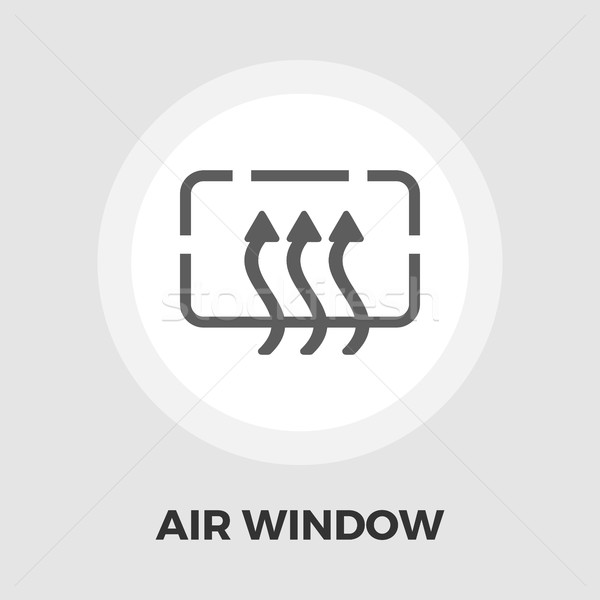 Heated car mirror flat icon Stock photo © smoki