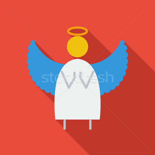Angel flat icon Stock photo © smoki
