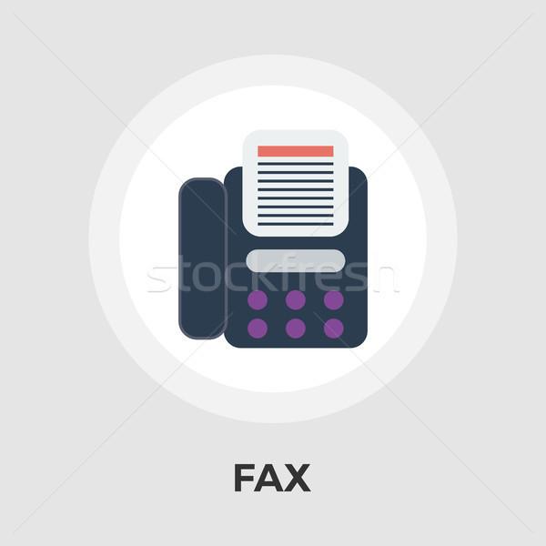 Fax icône vecteur isolé blanche Photo stock © smoki