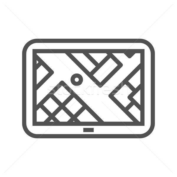 Gps navegação ícone fino linha vetor Foto stock © smoki