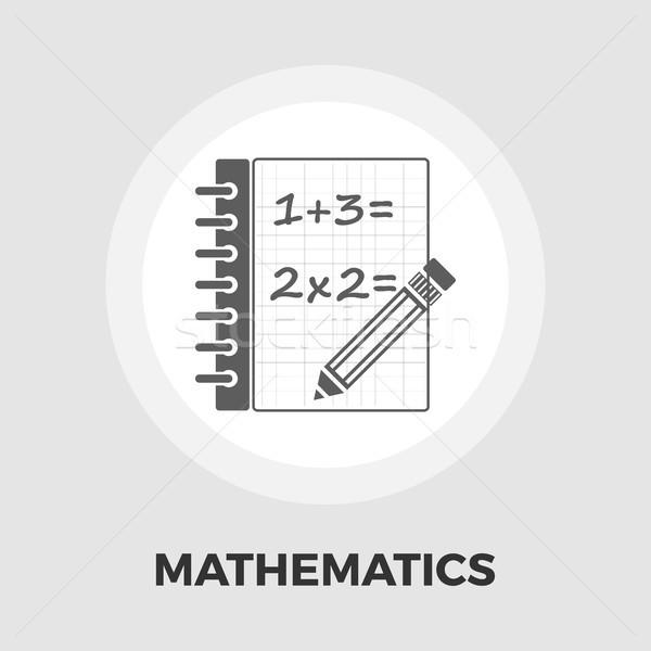 Mathematics icon flat Stock photo © smoki