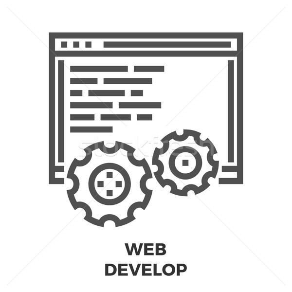 Web Develop Line Icon Stock photo © smoki