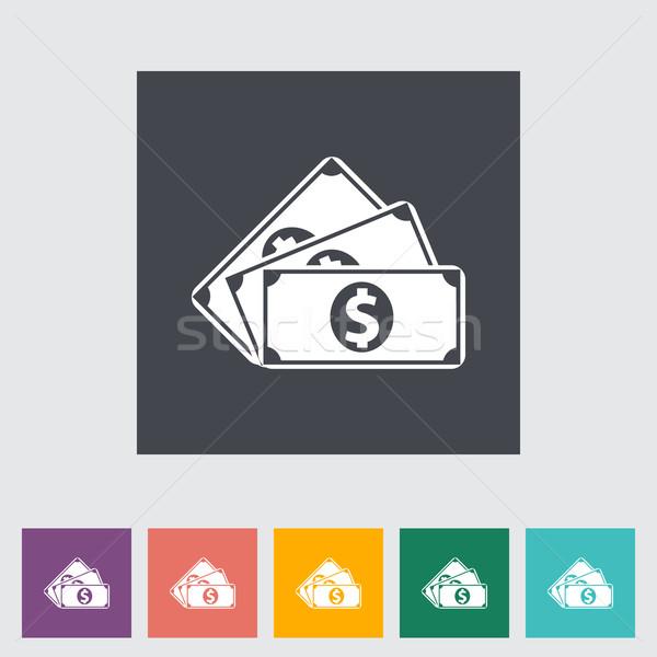 Dollar Münze Business Design Hintergrund Malerei Stock foto © smoki