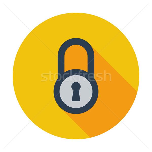 Foto d'archivio: Lock · icona · colore · computer · sicurezza · web