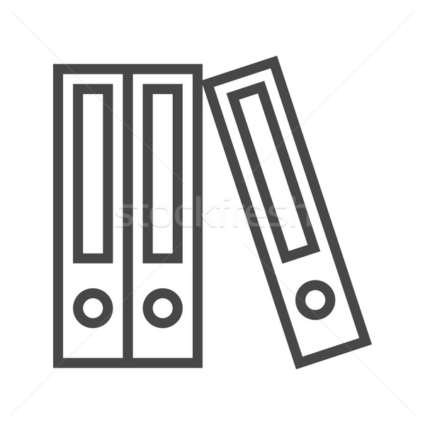 File Folder Line Icon Stock photo © smoki