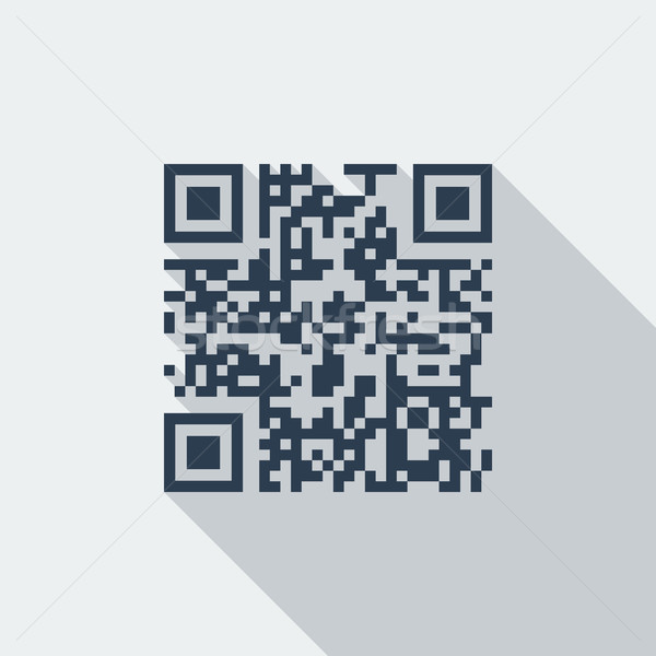 Código qr icono vector largo sombra web Foto stock © smoki