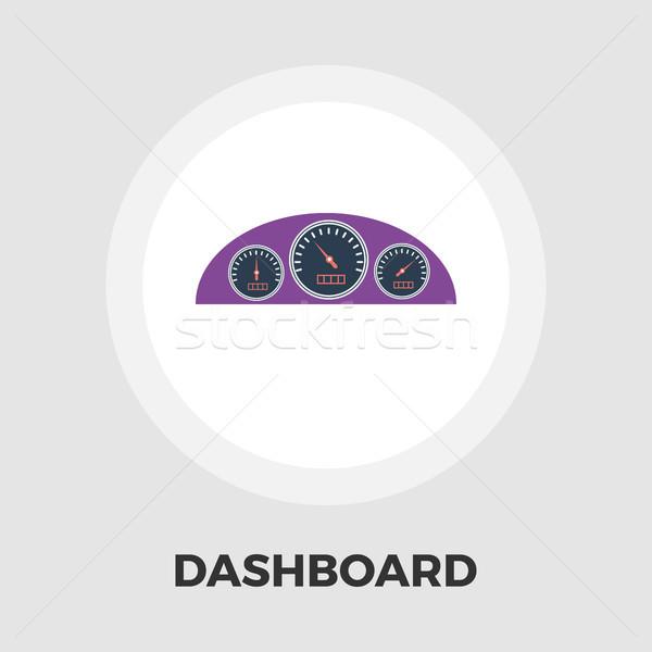 Dashboard flat icon Stock photo © smoki
