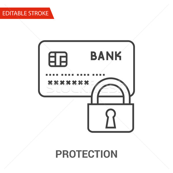 Protection Icon. Thin Line Vector Illustration Stock photo © smoki