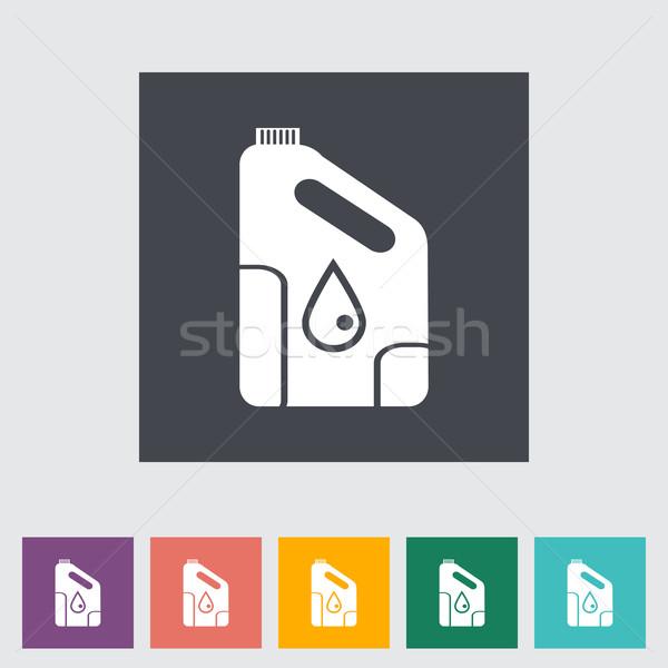 Icon cans of engine oil. Stock photo © smoki