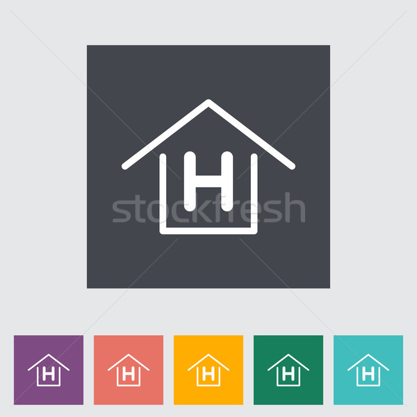 Herberg business huis ontwerp home kunst Stockfoto © smoki