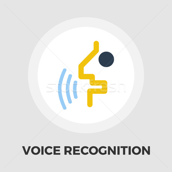 Voice recognition icon flat Stock photo © smoki