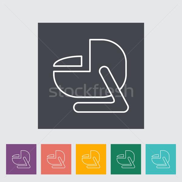 Child car seat flat icon. Stock photo © smoki