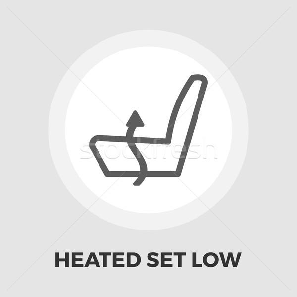 Heated set low flat icon Stock photo © smoki
