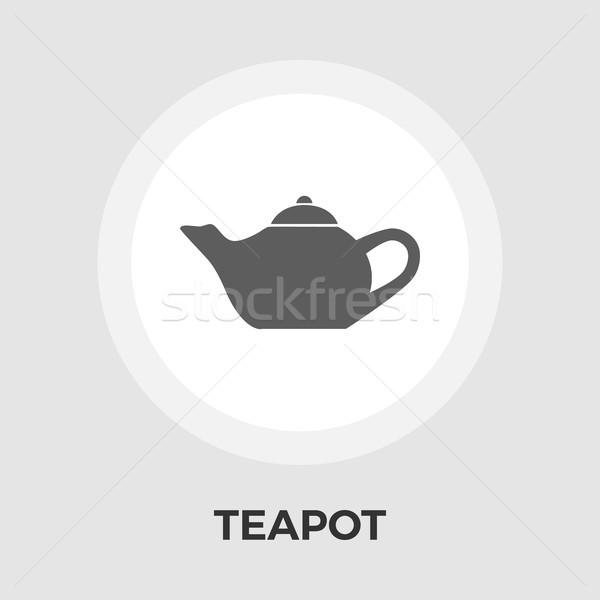 Kettle flat icon Stock photo © smoki