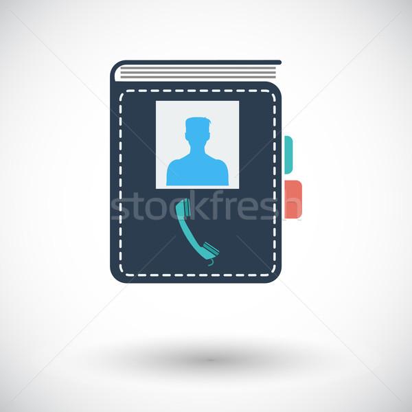 Сток-фото: контакт · книга · икона · белый · служба · бумаги