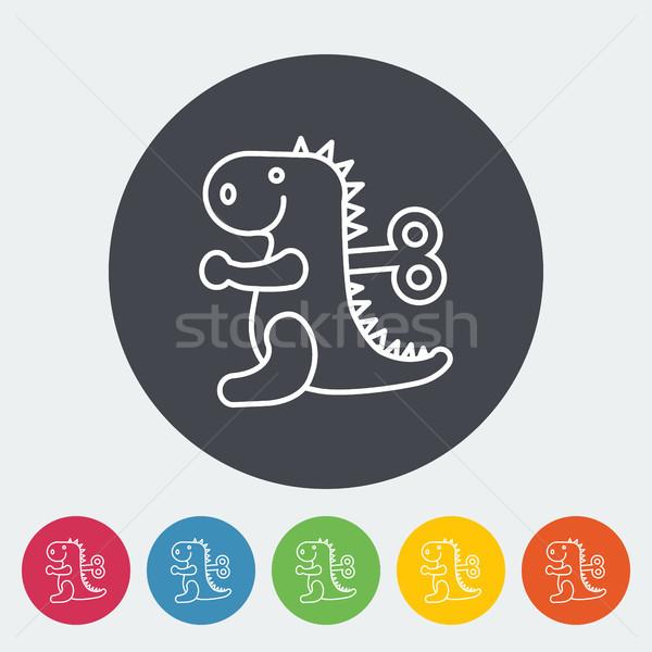 игрушку икона тонкий линия вектора веб Сток-фото © smoki