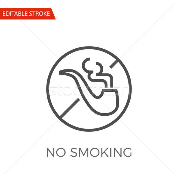 No Smoking Vector Icon Stock photo © smoki