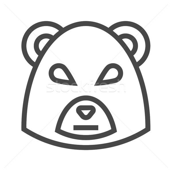 Bear Market Thin Line Vector Icon Stock photo © smoki