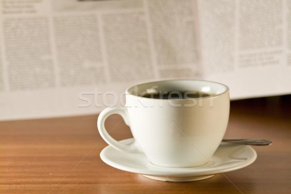 coffee and newspaper Stock photo © smoki