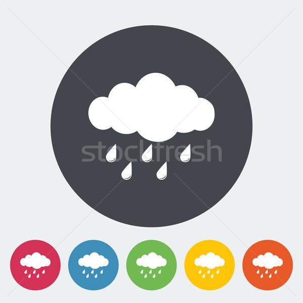 Rain icon Stock photo © smoki
