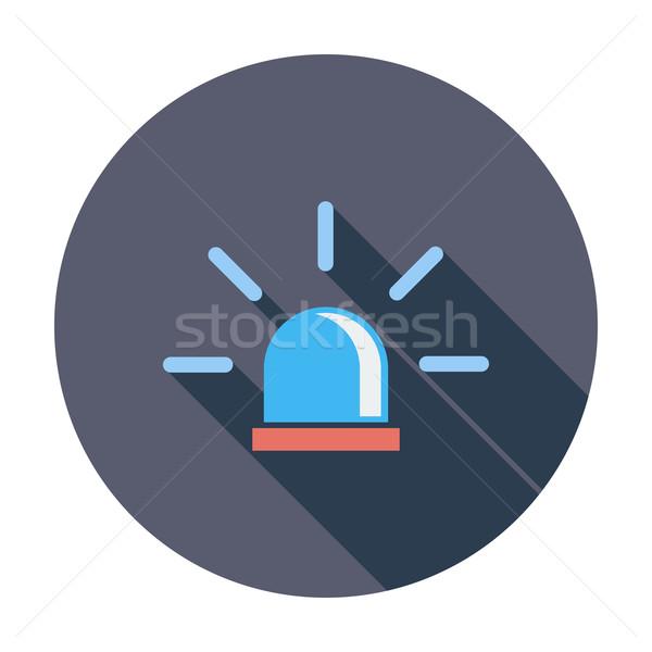 Politie icon kleur brand medische veiligheid Stockfoto © smoki