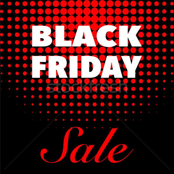 Black friday vendita pubblicità poster design vettore Foto d'archivio © smoki