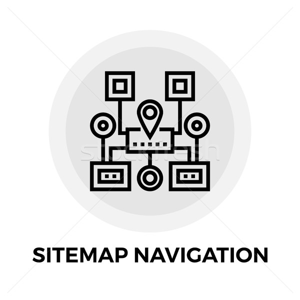 Sitemap Navigation Line Icon Stock photo © smoki