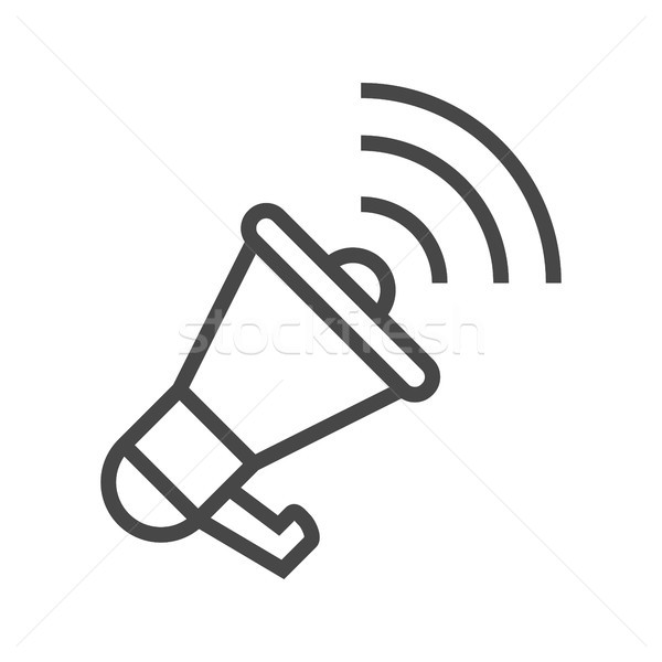 Loudspeaker Thin Line Vector Icon. Stock photo © smoki