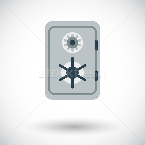 безопасной икона белый бизнеса деньги двери Сток-фото © smoki