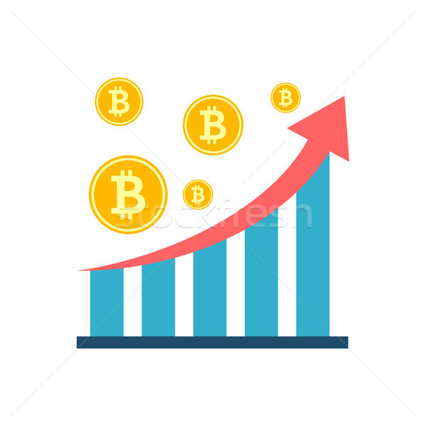 Análisis vector icono bitcoin moneda tabla Foto stock © smoki