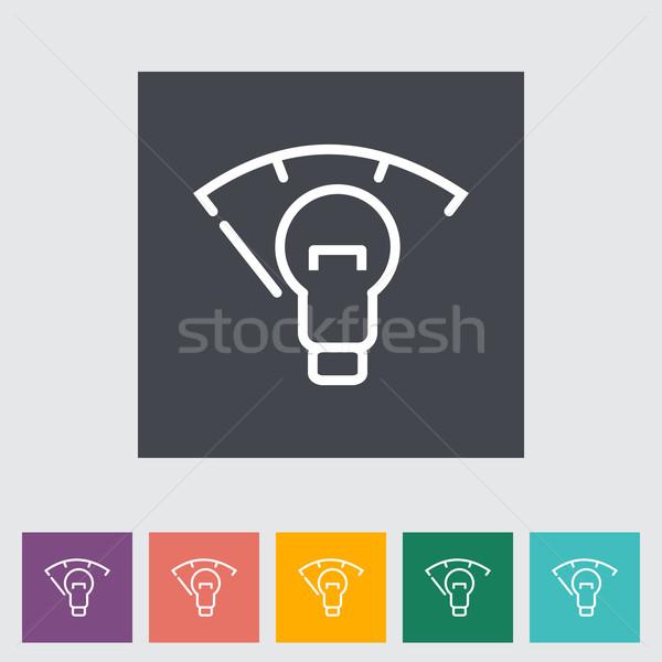 Araba panel aydınlatma gösterge paneli boya imzalamak Stok fotoğraf © smoki