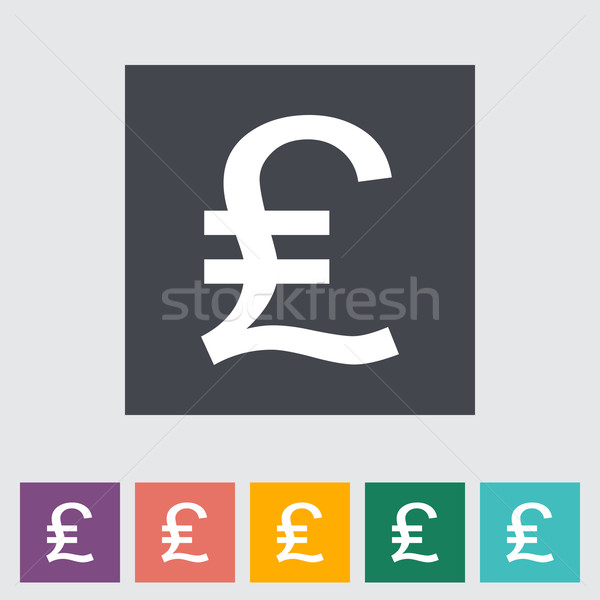 Libra icono compras signo pintura banco Foto stock © smoki